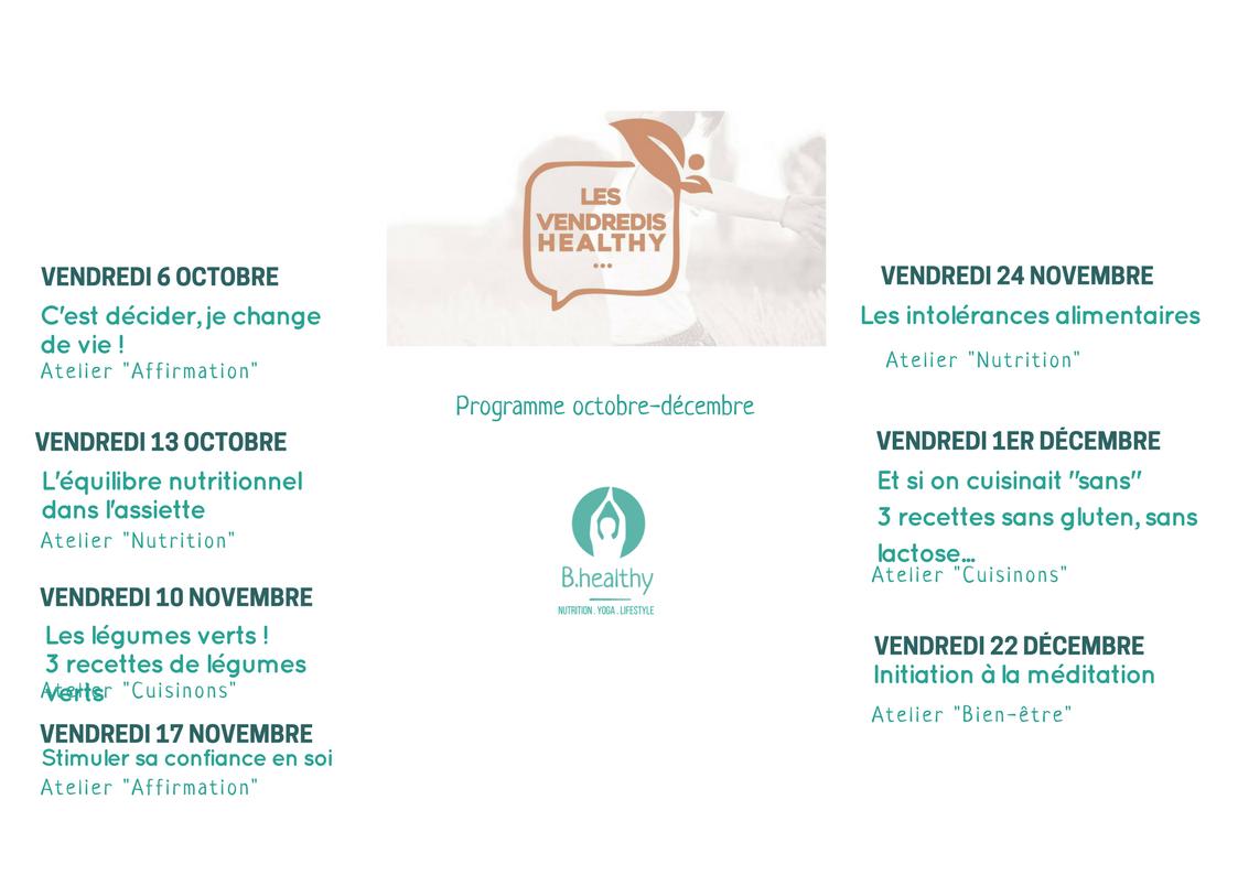 programme octobre décembre healthy biarritz