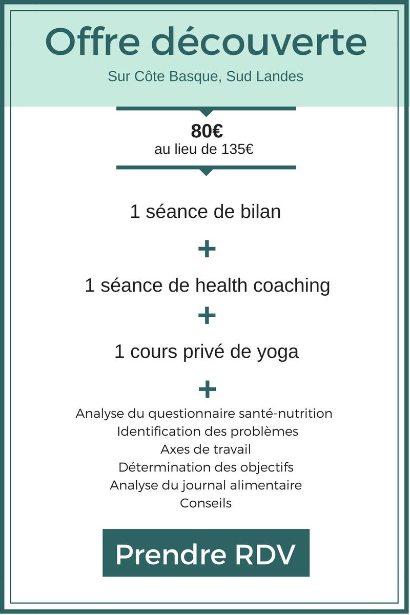 tarif yoga healthy basque biarritz